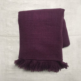 Noble Fibre Cashmere Shawl in Royal Purple