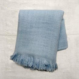 Noble Fibre Cashmere Shawl in Ocean