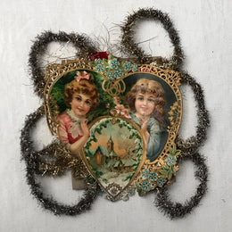 Antique Victorian Heart Ornament