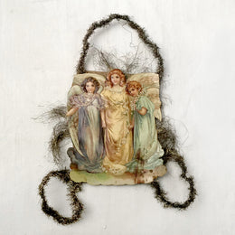 Antique Victorian Angels Ornament