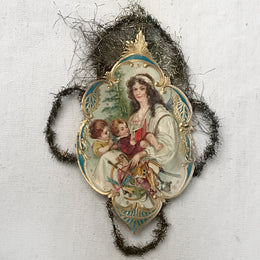 Antique Victorian Mother with Children Ornament