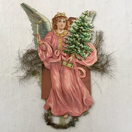 Antique Victorian Angel with Tree Ornament