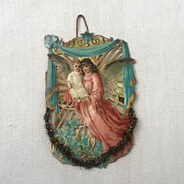 Antique Victorian Angel with Child Ornament