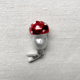 Fly Agaric Mushroom Clip-On Ornament