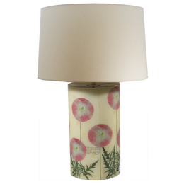 Pink Poppies Lamp