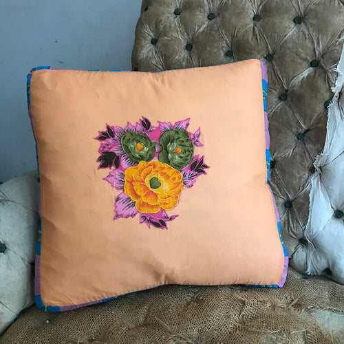 Organza Pillow (Yellow/Green Flowers)