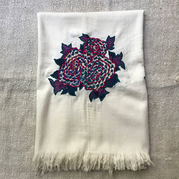 Wool Throw Blanket (White)