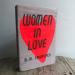 "Leanne Shapton ""Woman in Love"" Wooden Book"