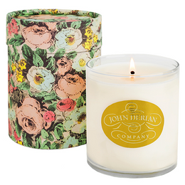 John Derian The Scent Candle is a blend of natural wildflowers, lavender, violet, jasmine, helicopter, neroli and currant blossoms