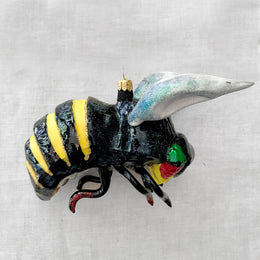 Large Dark Bumblebee Ornament