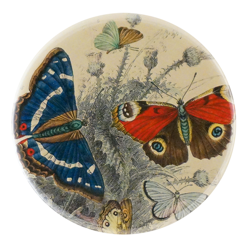 Butterflies available as a pocket mirror, magnet, button pin or bottle opener