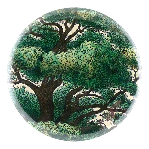 Branches handmade decoupage item available as a pocket mirror, magnet, button pin or bottle opener