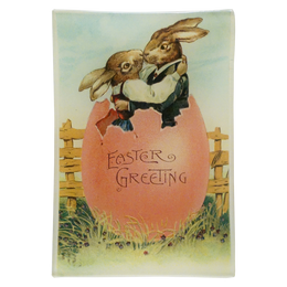 Easter Greeting (Embracing Rabbits)