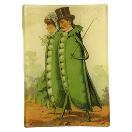 Peas in a Pod made by handmade decoupage in a 4 inch by 6 inch mini tray