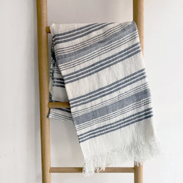 Malibu Linen Throw Blanket #48