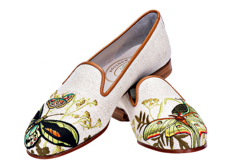 Mariposas Linen Slipper