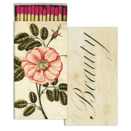 La Rose and Beauty four inch matchbox with fifty sticks