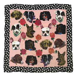 """Dogs"" Silk Scarf"