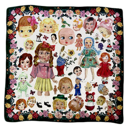 """Dolls"" Silk Scarf"