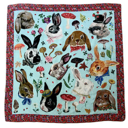 """Heads of Rabbits"" Silk Scarf"