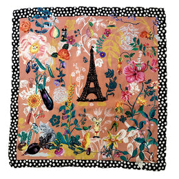 """Paris Jardin"" Silk Scarf"