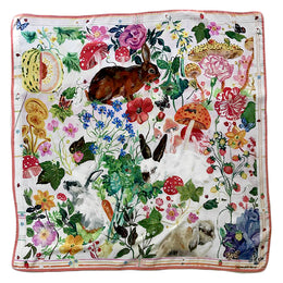 """Rabbits"" Silk Scarf"