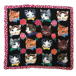 """Cats"" Silk Scarf"
