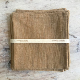 Linen Napkins in Ocre