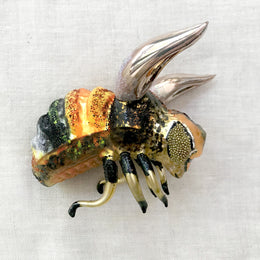 Orange & Black Bumblebee Ornament