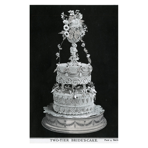 Two Tiered Bride's Cake