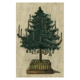 Holiday Tree postcard includes a pack of ten