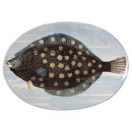 Painted Fish B Oval Plate