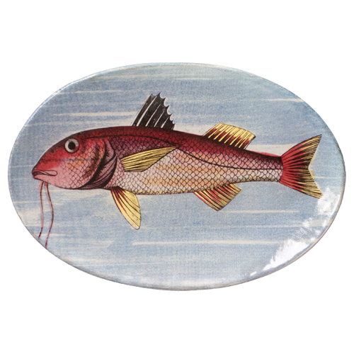 Painted Fish G Oval Plate