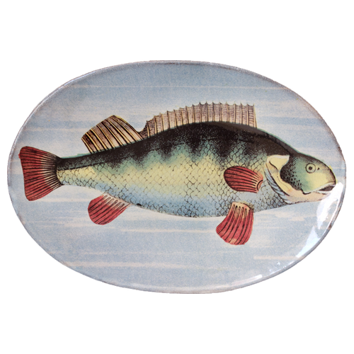Painted Fish D Oval Plate