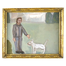 Park with White Dog