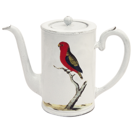 Red Parrot Coffee Pot