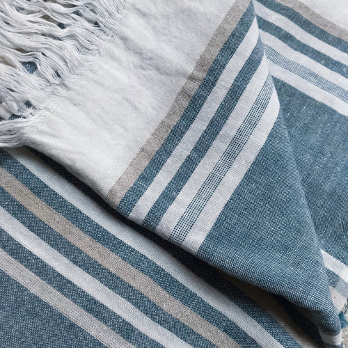 Pismo Linen Throw Blanket #45