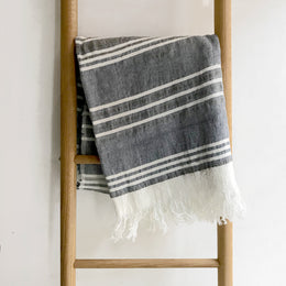 Pismo Linen Throw Blanket #48