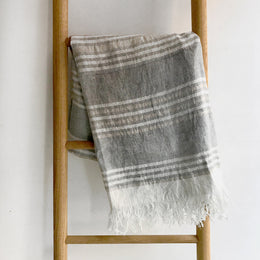 Pismo Linen Throw Blanket #82