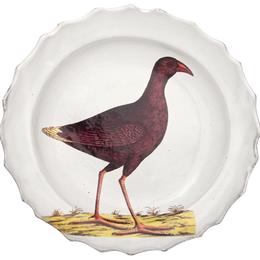 Purple Bird Soup Plate