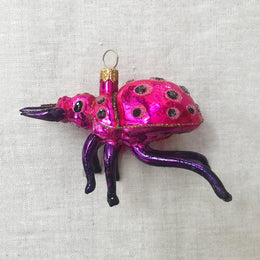 Purple & Pink Beetle Ornament