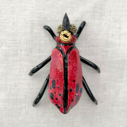 Black and Red Bug Ornament