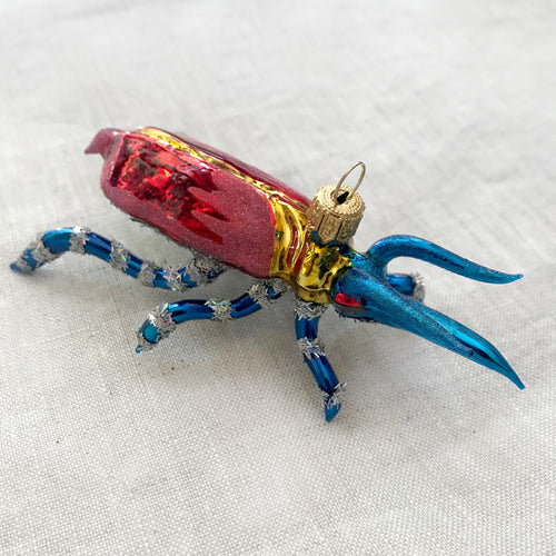 Red & Blue Bug Ornament