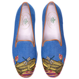 Ribbiting Linen Slipper