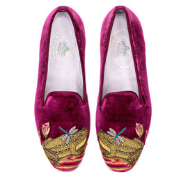 Ribbiting Velvet Slipper