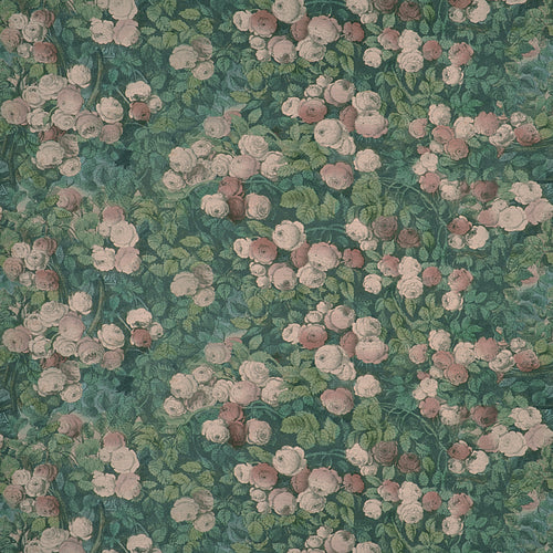 Rose Mosaic Forest Fabric