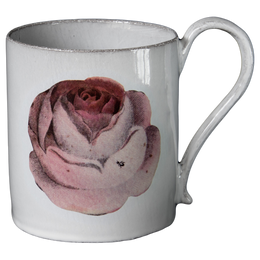 Rose mug Astier de Villlatte 19th century inspired pattern and images