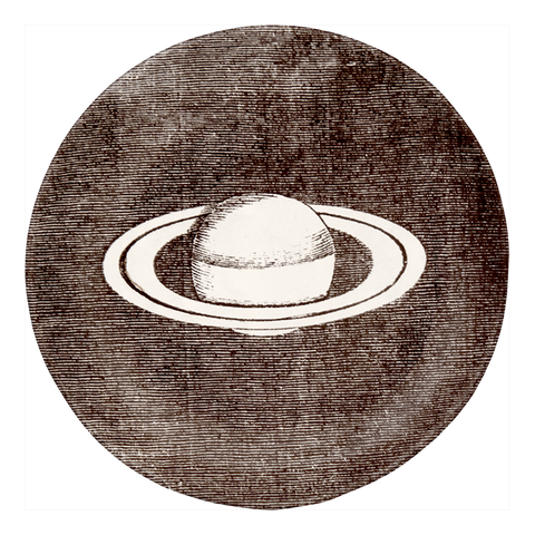 Black & White Saturn Saucer