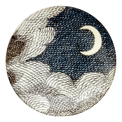 Cloud & Crescent Moon Saucer
