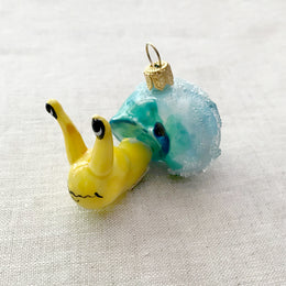Snail with Blue Shell Ornament